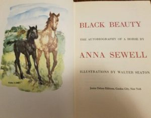 Junior Deluxe Editions Black Beauty 1954 illus Walter Seaton Title Page