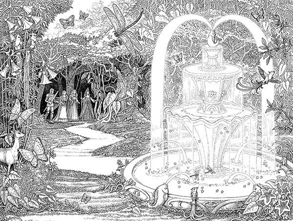 beedle the bard by jk rowling tomislav tomic fountain illustration