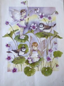 Jan Wade Australian Bush Fairies Native Violet sm