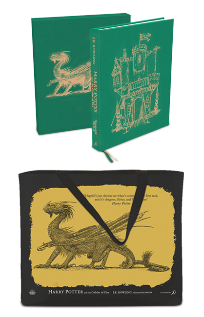 Illustrated Goblet of Fire LE with tote bag preorder swag