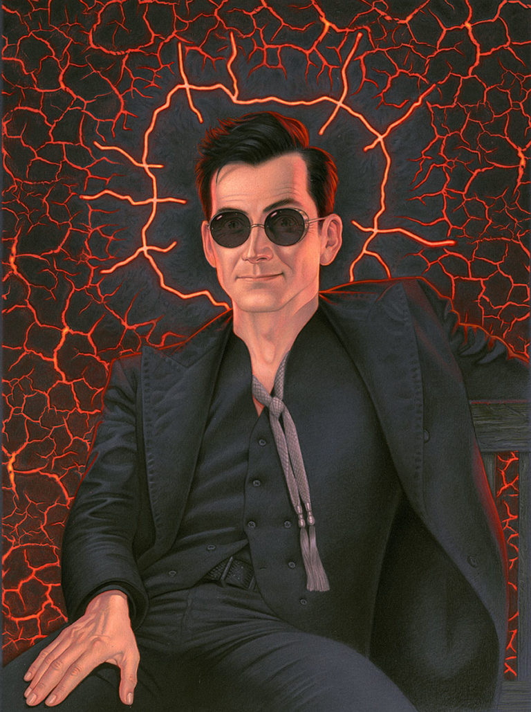 Illustrated Good Omens Crowley