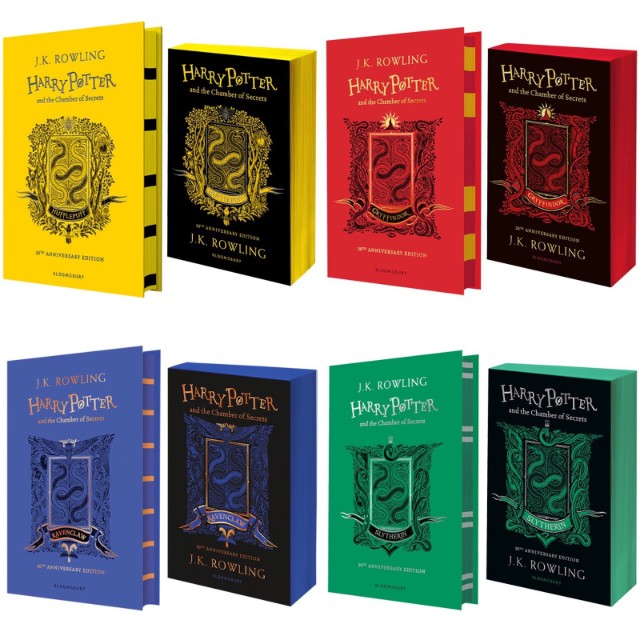 jk rowling harry potter house editions sprayed edges