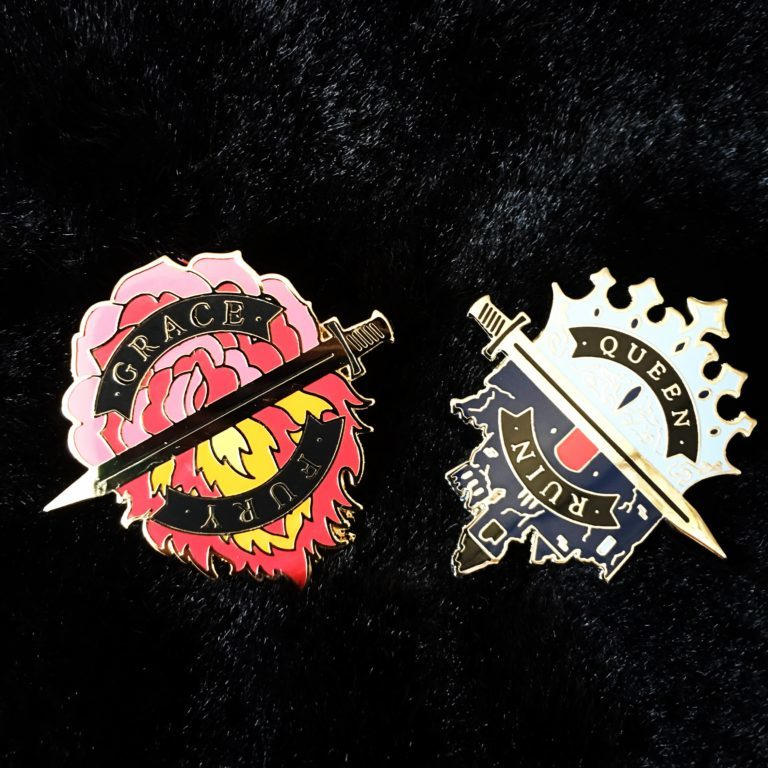 tracy banghart queen of ruin preorder swag pins