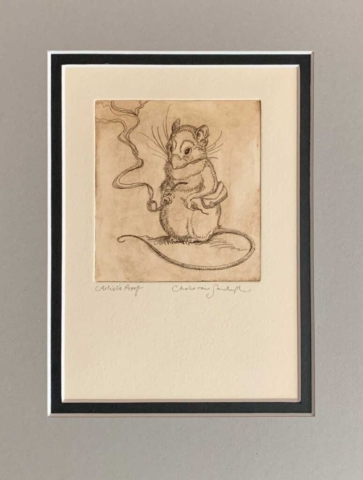 Mouse With Pipe, etching from 'The Meaning of Mice' (Charles van Sandwyk, 2002)