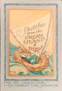 CVS JP postcards set from sketches dream island of birds