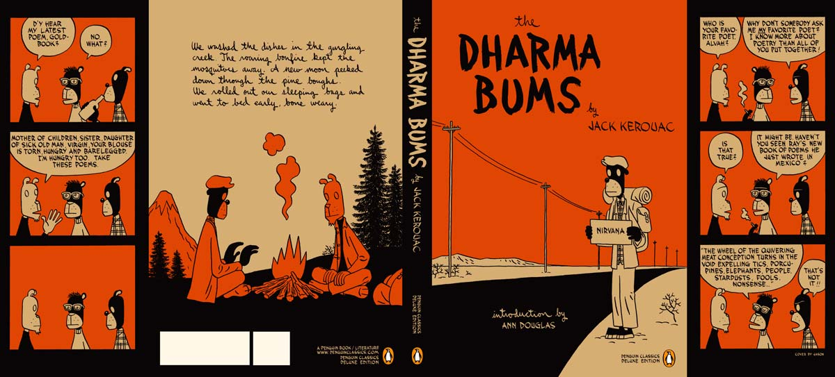 Kerouac The Dharma Bums Penguin Deluxe cover full