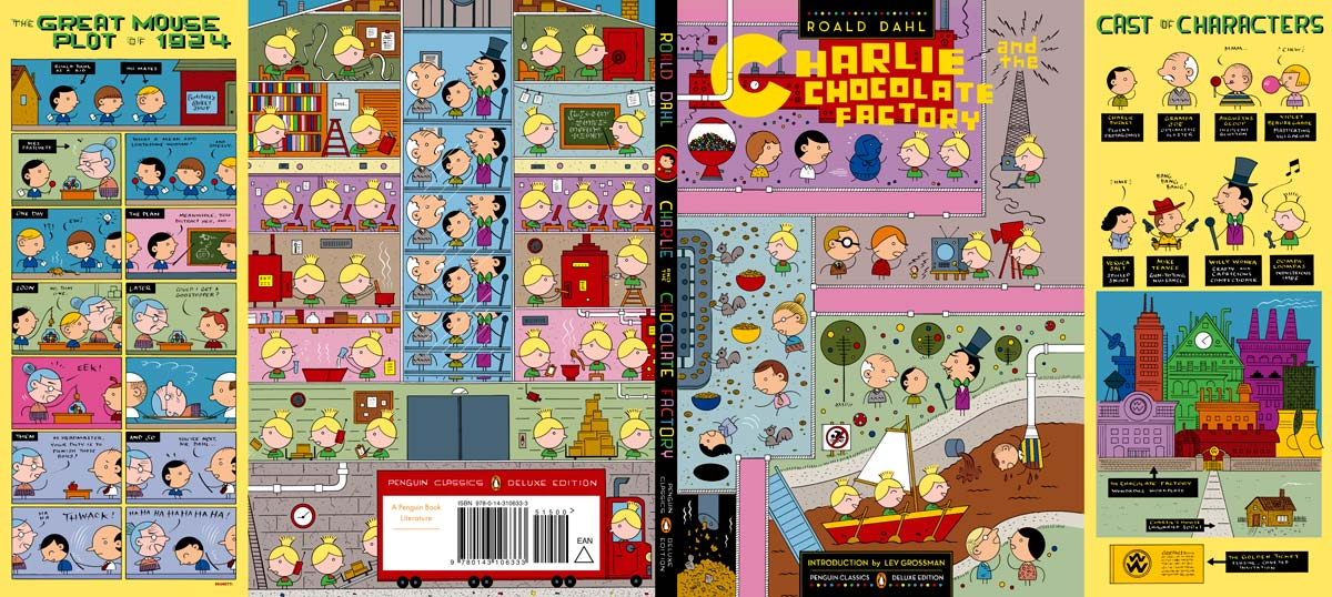 dahl Charlie and the Chocolate Factory Penguin Deluxe cover full