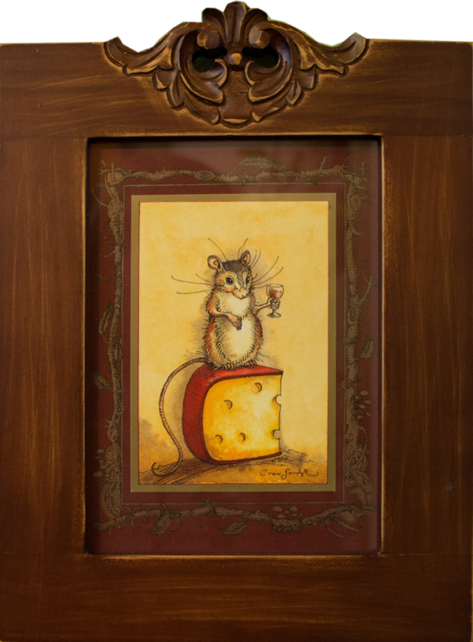 CVS Framed Art Card Mouse with Brandy and Cheese